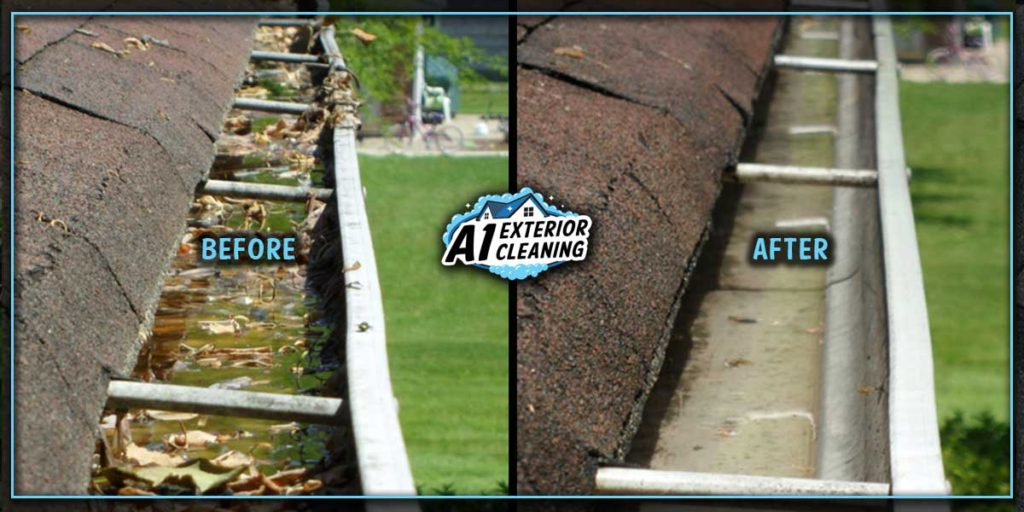 Blocked gutters fill with water and debris, which puts strain on your gutters. This can result in shifting, sagging or even falling off.