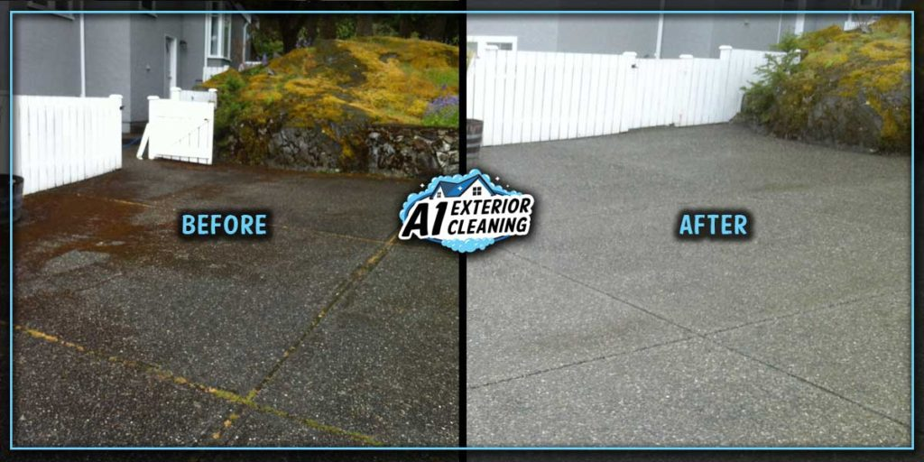 Pressure washing your driveways are an effective low cost way to maximize your curb appeal.