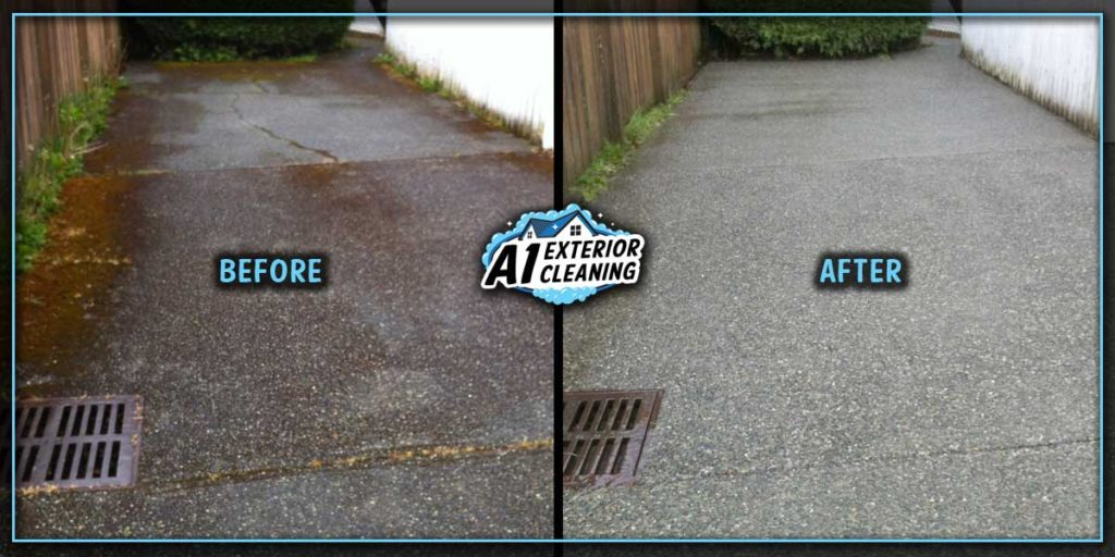 Pressure washing effectively removes moss to reveal that new driveway look and keeping you and your guests safe.