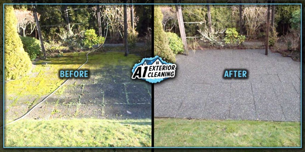 Pressure washing can safely remove that slippery moss to revitalize decks & patios.