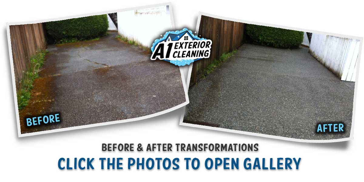A1 EXTERIOR CLEANING - PRESSURE WASHED DRIVEWAY B&A