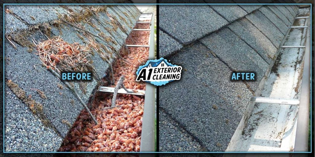 Small debris can clog your downspouts so it's important to clean them regularly.